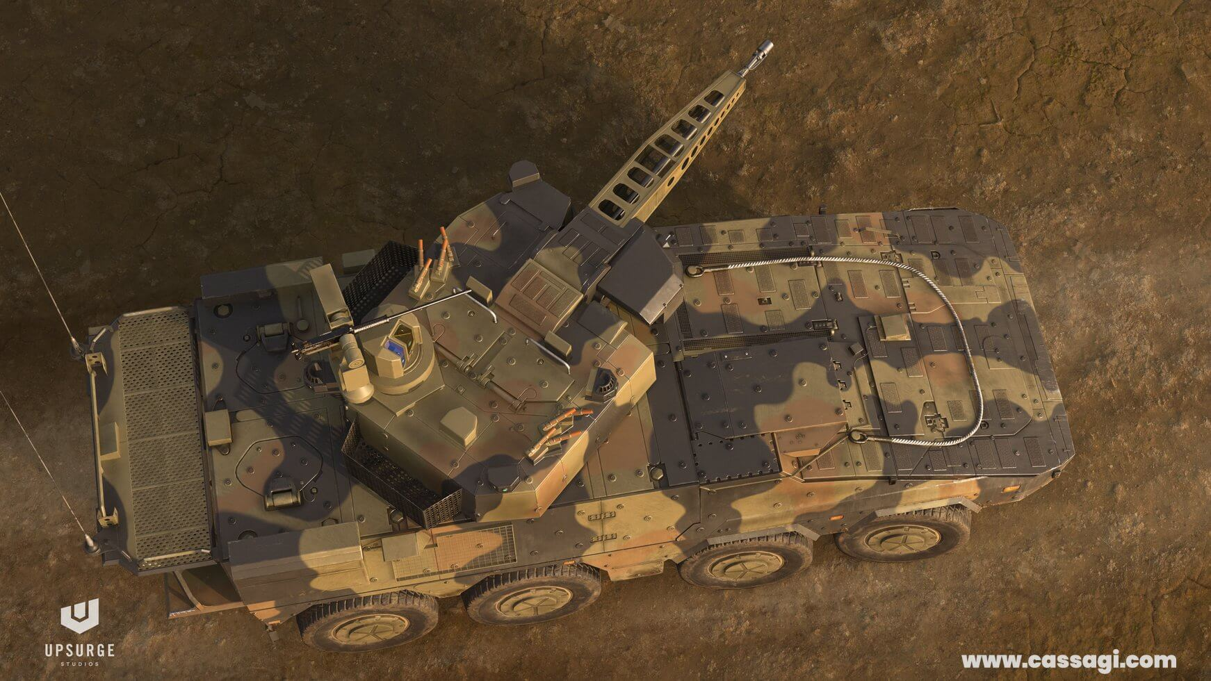 Boxer CRV in game vehicle model top view