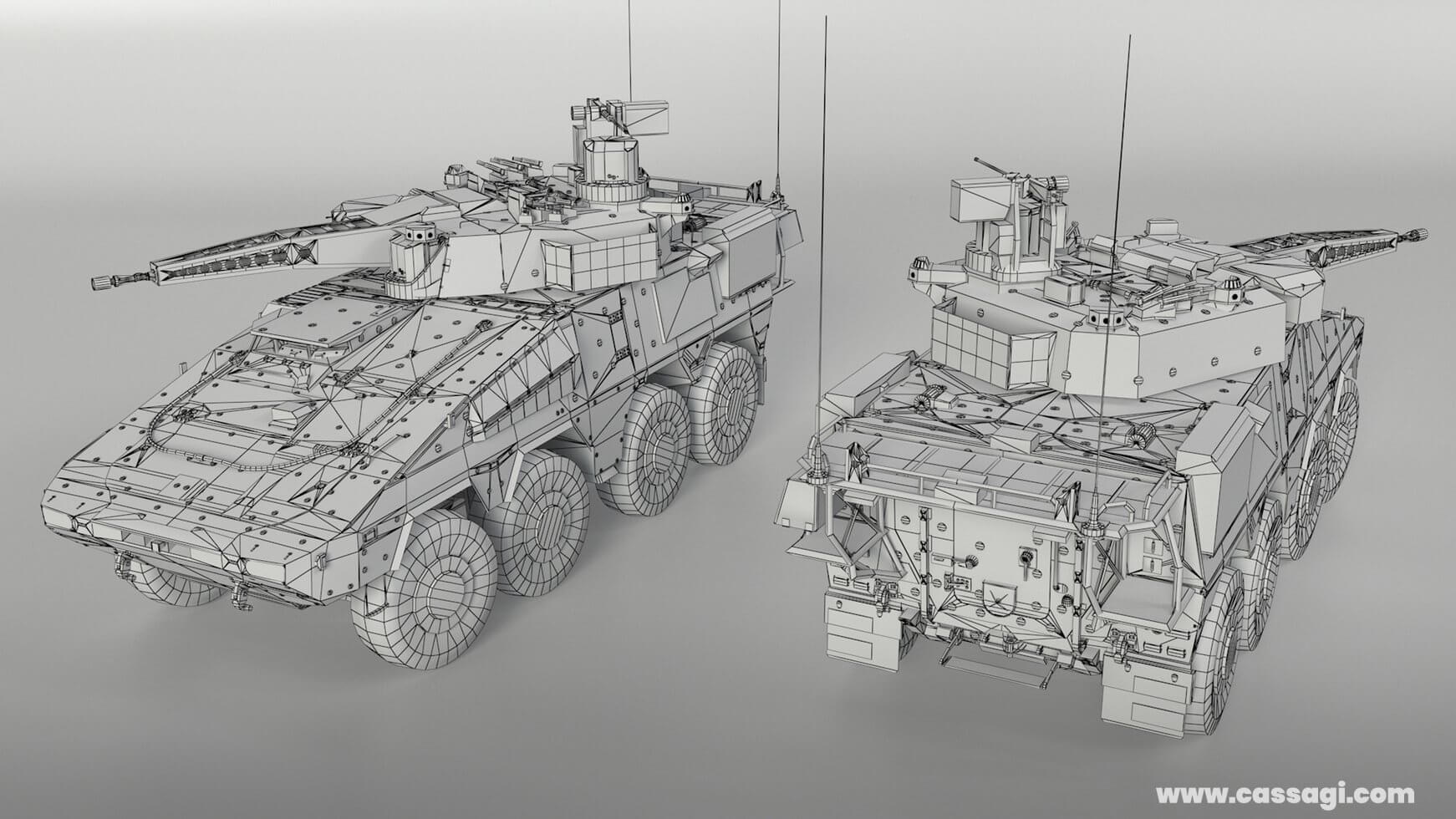 Boxer CRV wire in game vehicle model