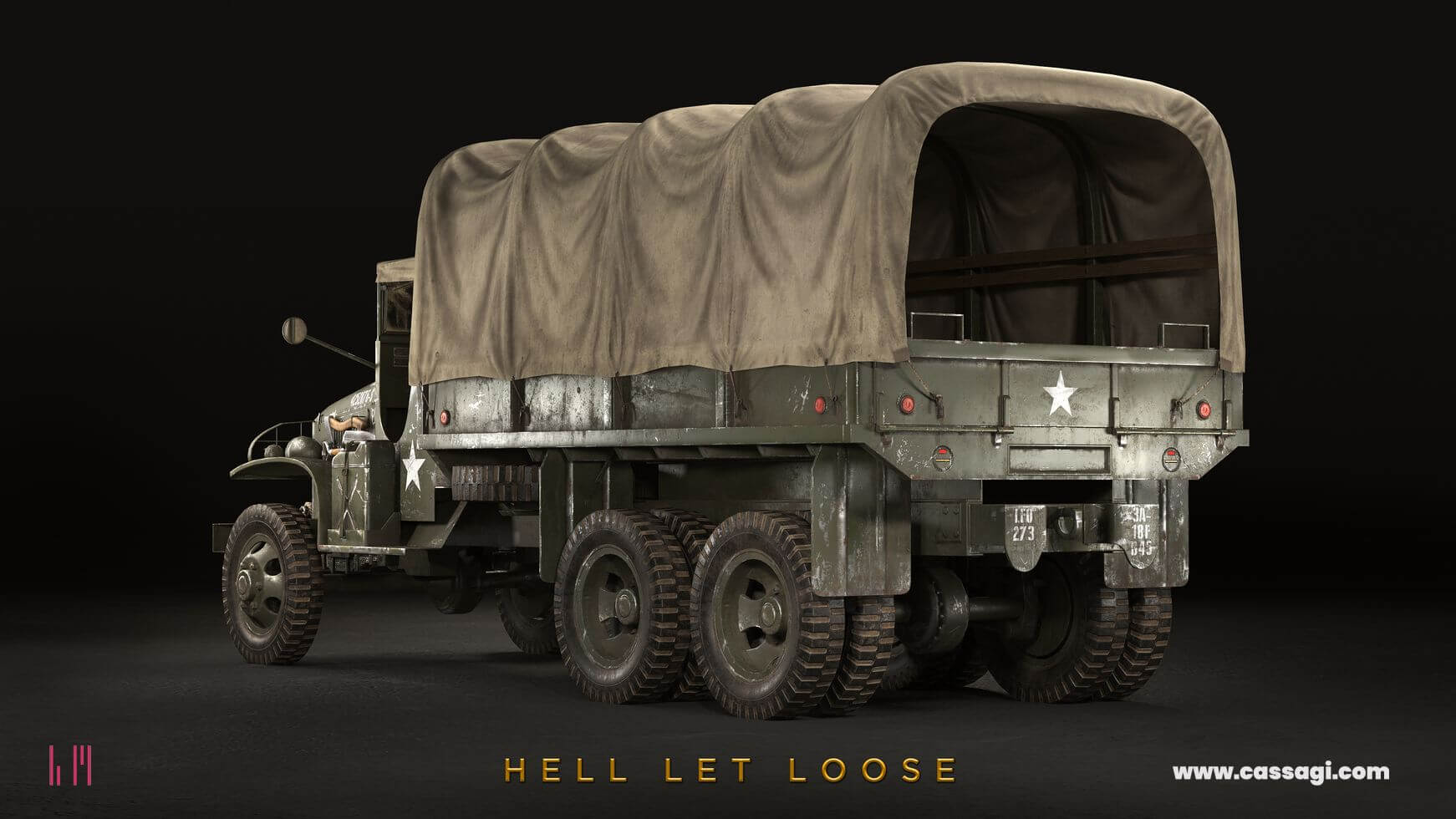 hell let loose GMC CCKW 353 in game model