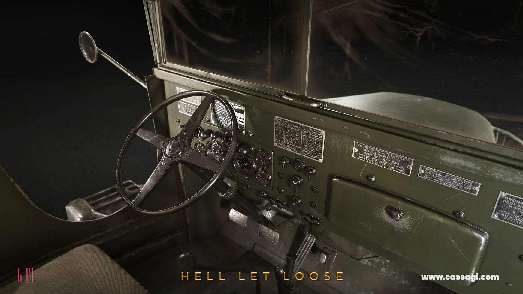 hell let loose GMC CCKW 353 interior in game model