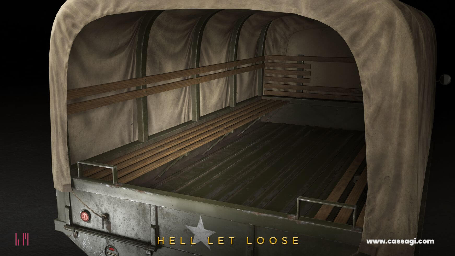 hell let loose GMC CCKW 353 cargo in game model