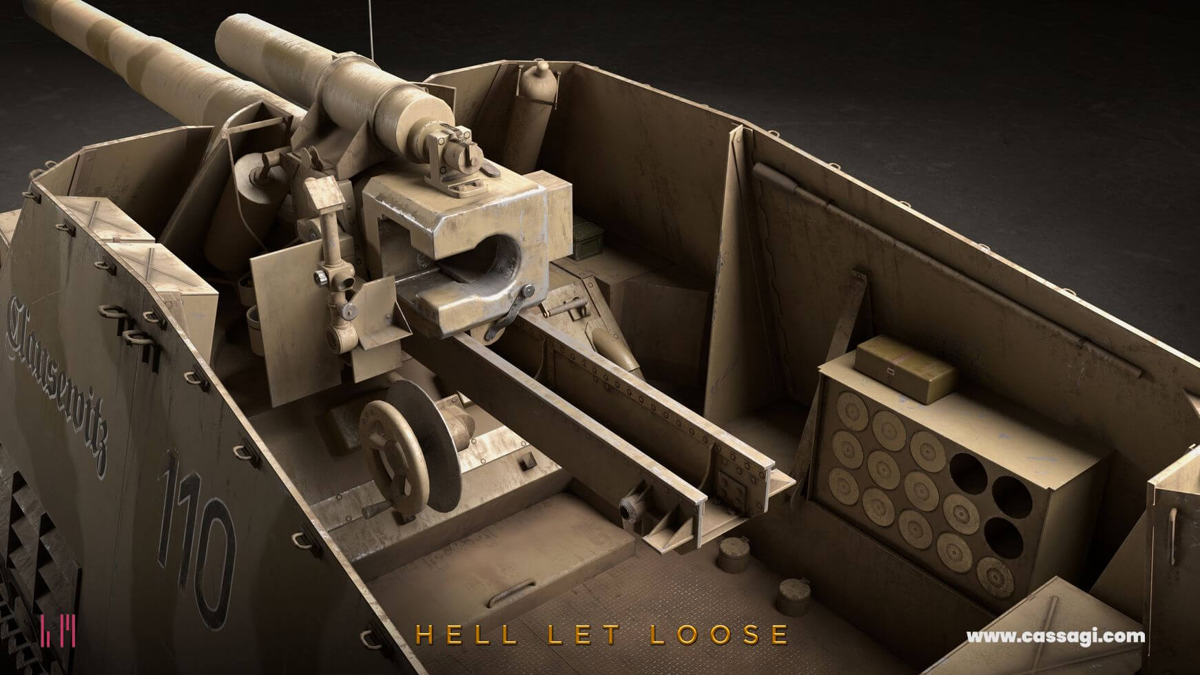 hell let loose hummel interior and gun detail in game model
