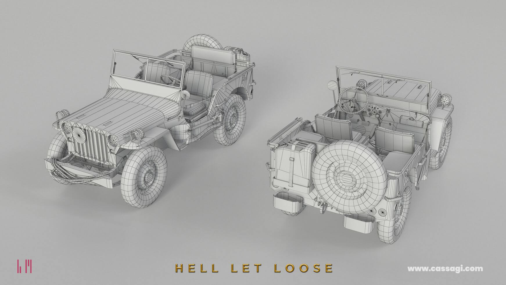 hell let loose Jeep Willis in game model