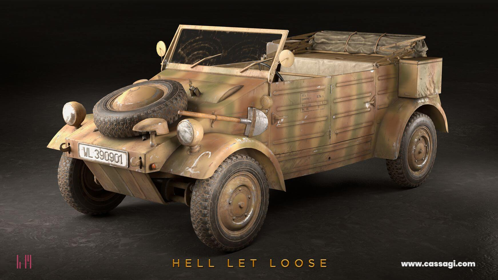 hell let loose Kubelwagen in game model