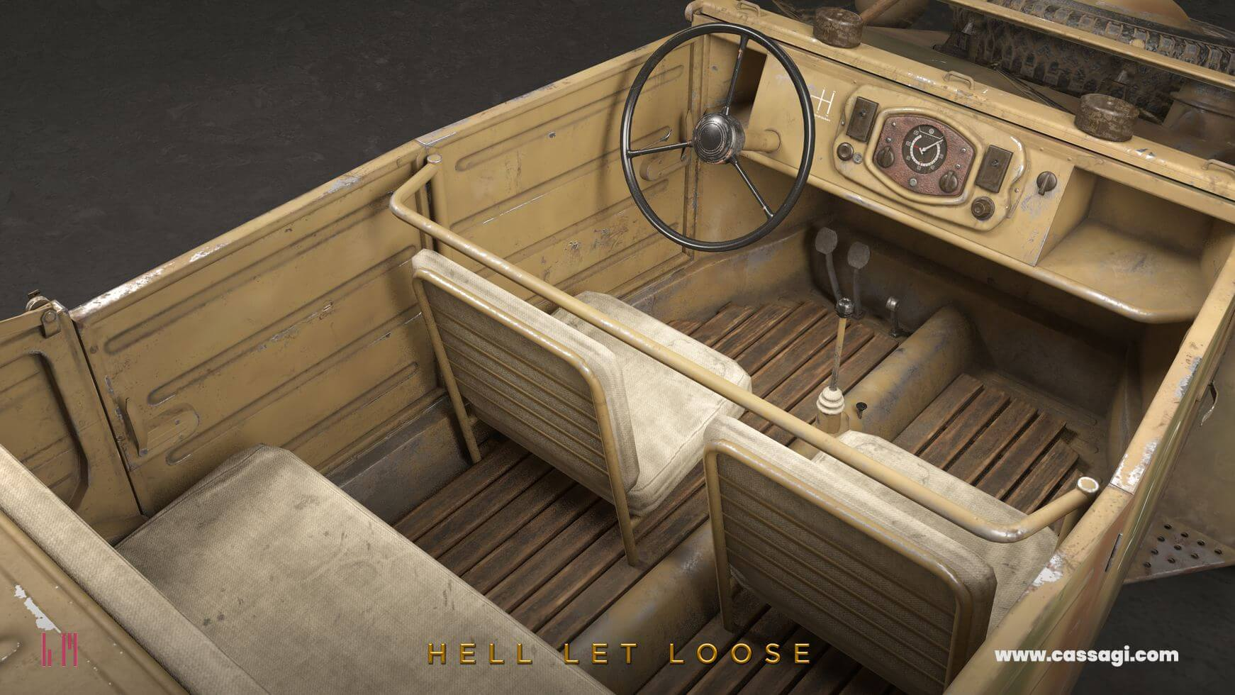 hell let loose Kubelwagen in game model interior