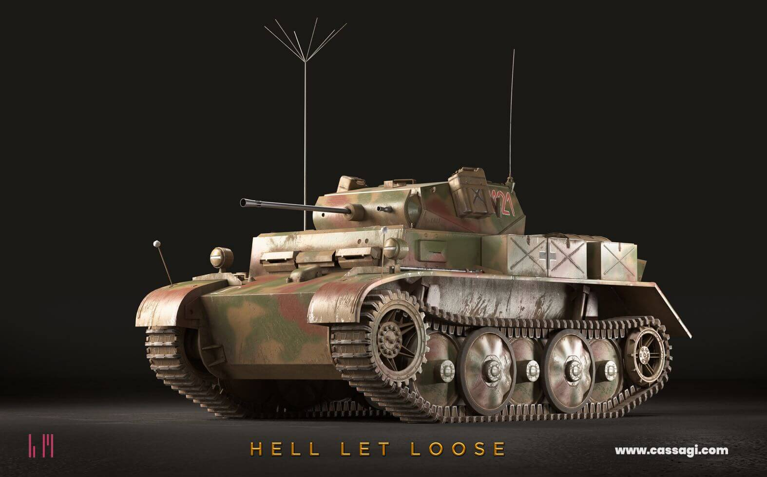 hell let loose Luchs in game model