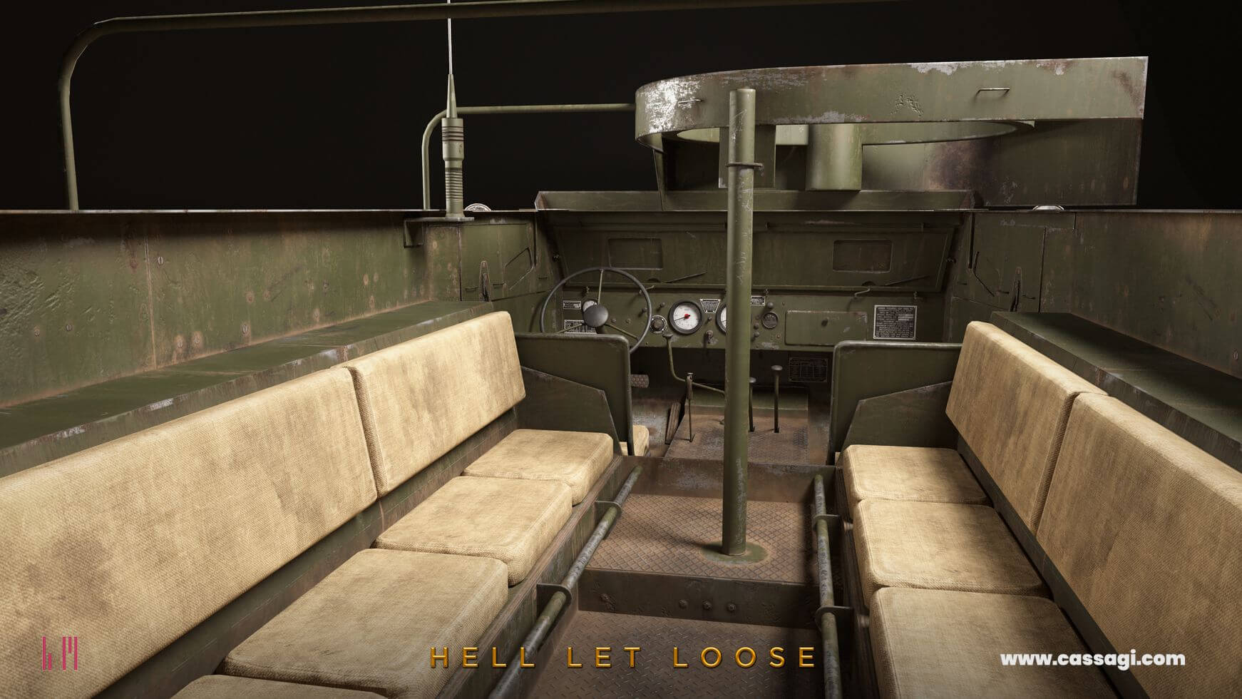 hell let loose M5A1 Stuart in game model interior