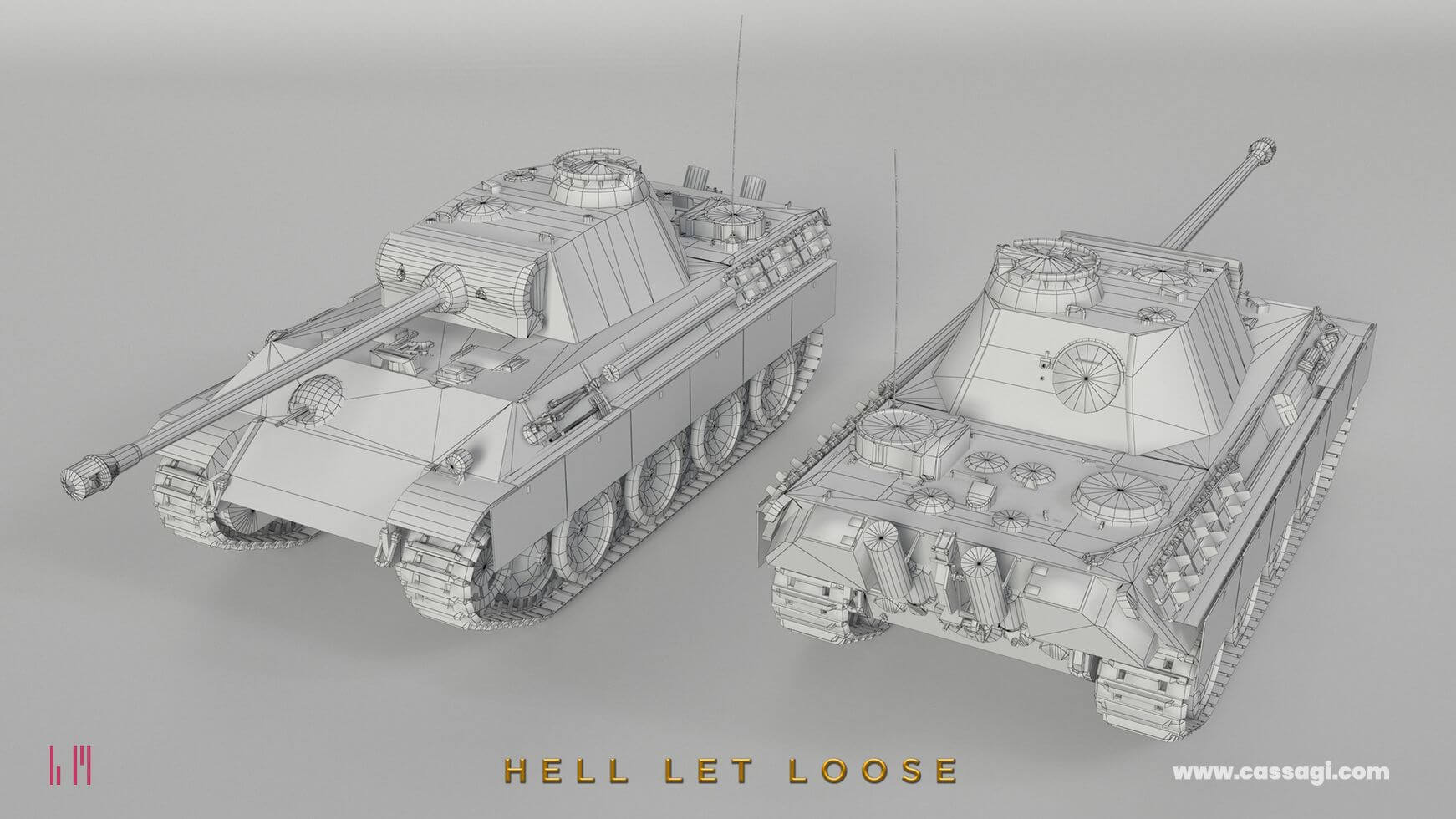 hell let loose panther tank in game wire model