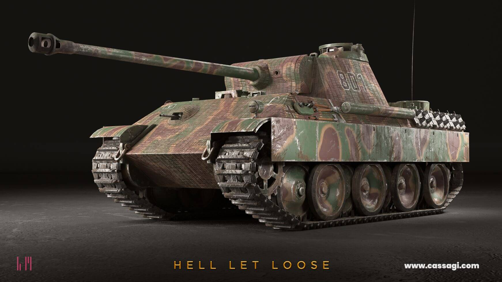 hell let loose panther tank in game model