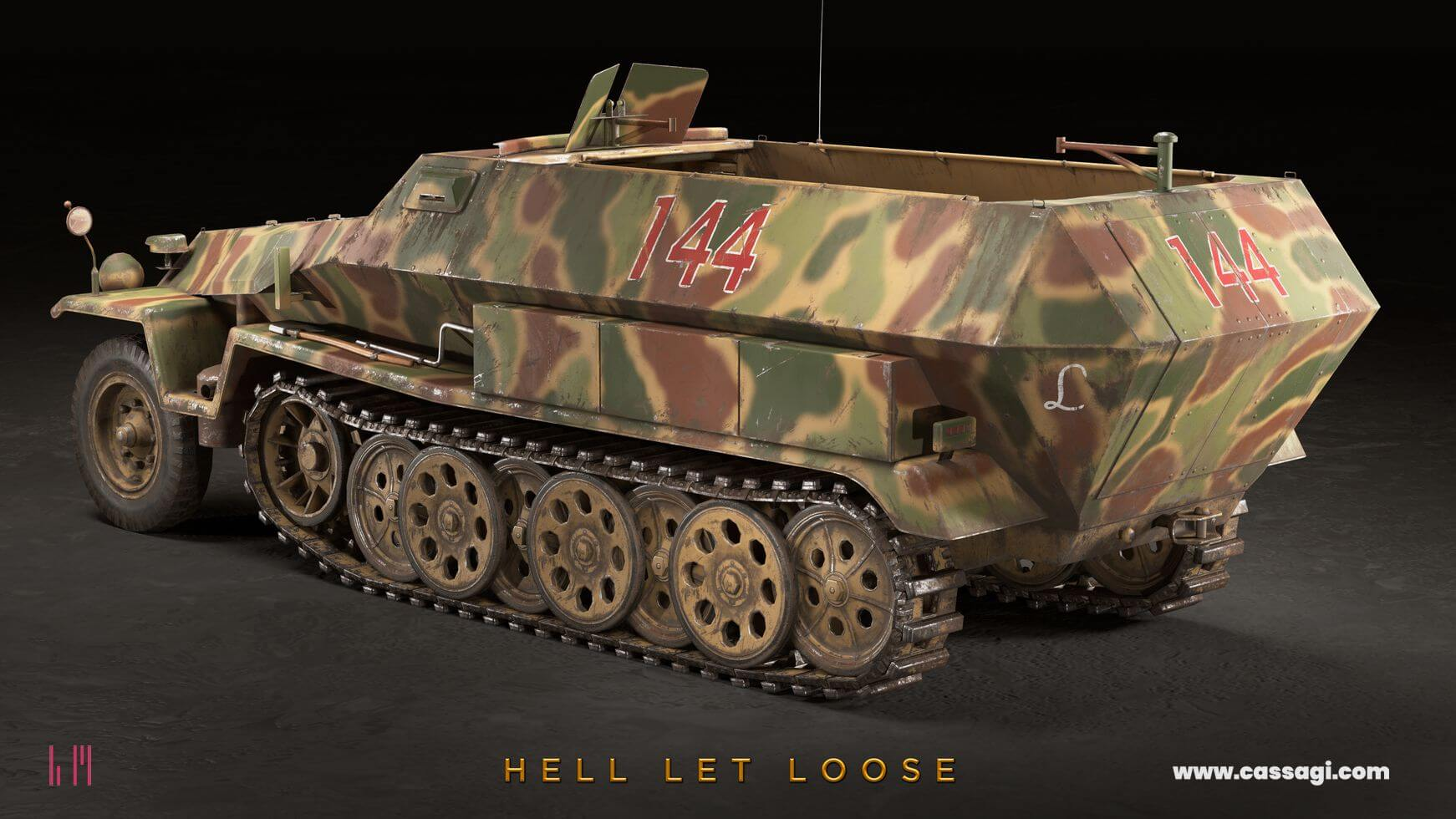 hell let loose Sdkfz 251 in game model
