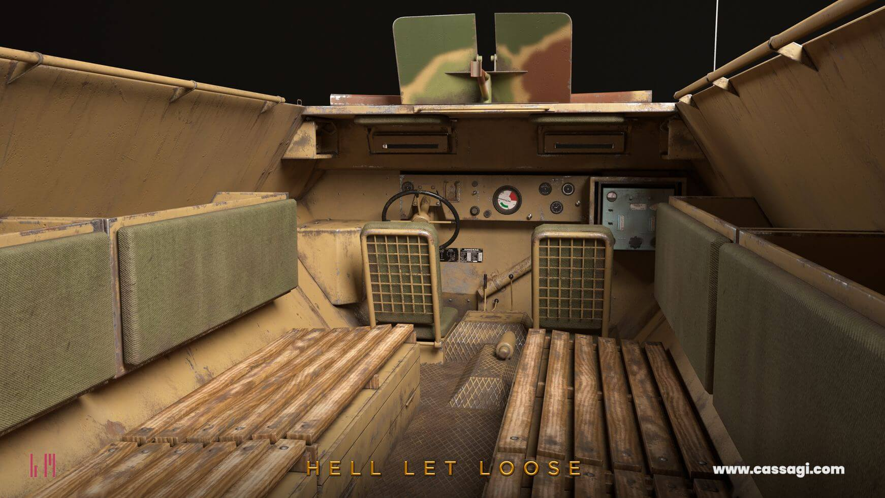 hell let loose Sdkfz 251 interior in game model