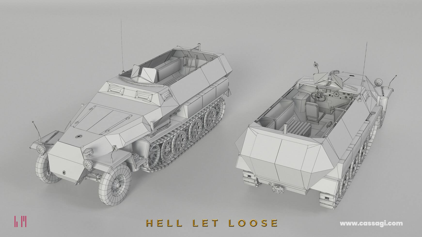 hell let loose Sdkfz 251 wire in game model
