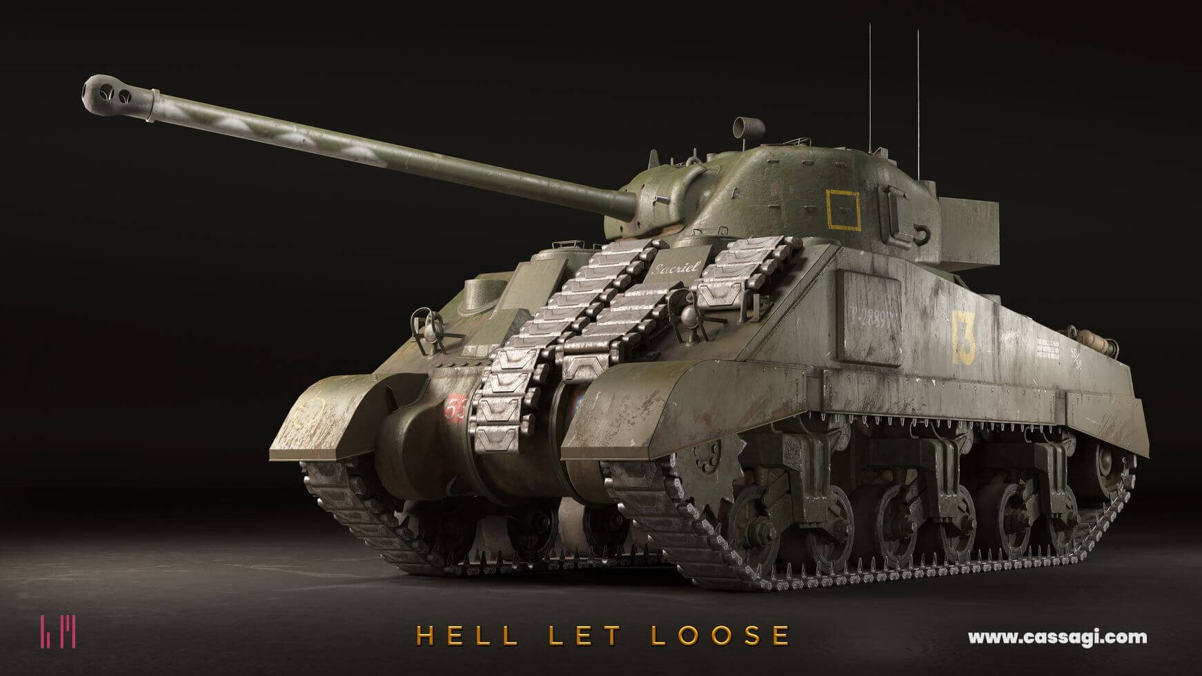 hell let loose Sherman Firefly in game model