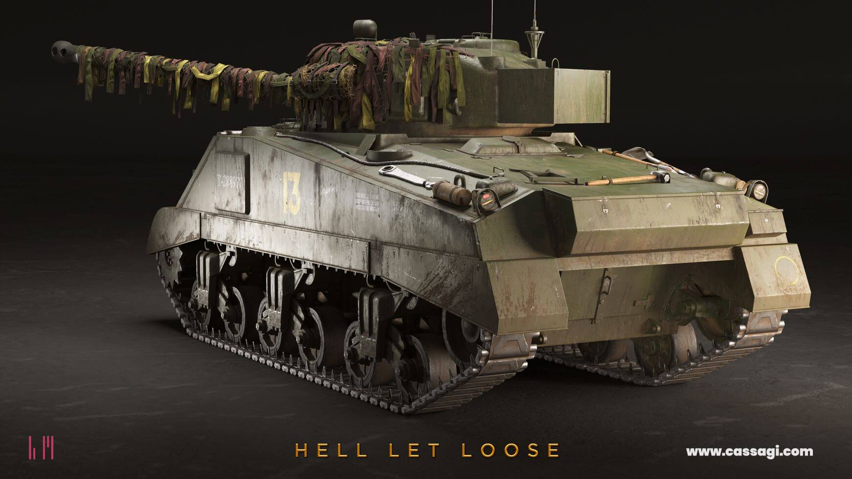 hell let loose Sherman Firefly with camouflage in game model