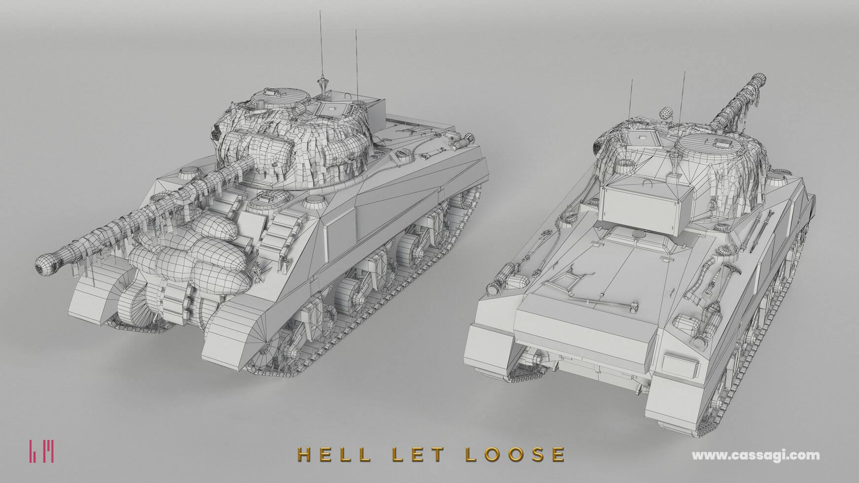 hell let loose Sherman Firefly wire in game model