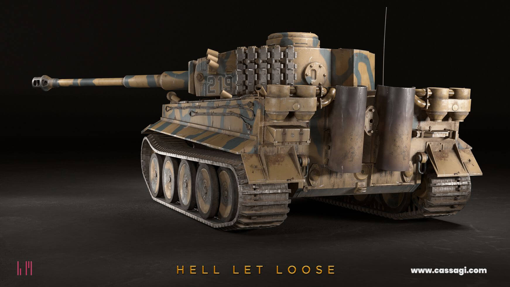 hell let loose tiger tank in game model