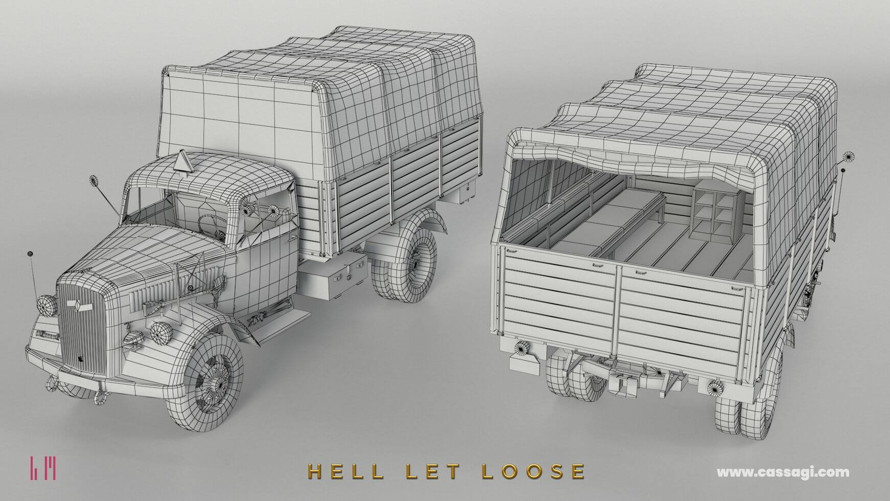 hell let loose Opel Blitz in game model