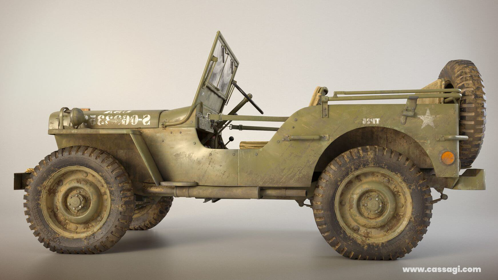 jeep willis mid poly model